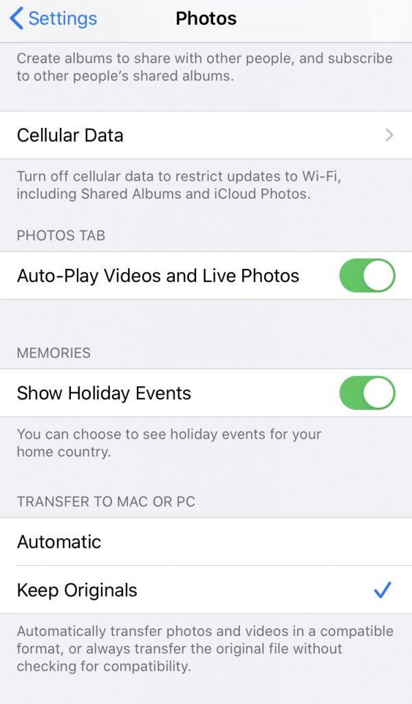 iPhone to Windows Photo Transfer Problem